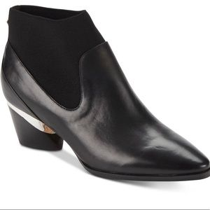 New DKNY Waylen Leather Ankle Booties